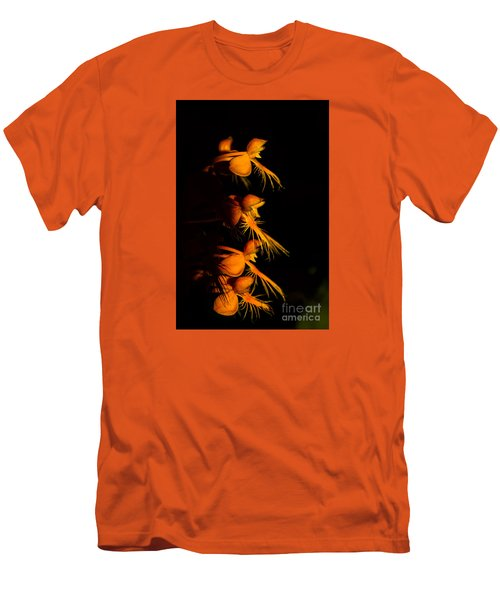 Men's T-Shirt (Slim Fit) featuring the photograph Yellow-fringe Orchid by Barbara Bowen
