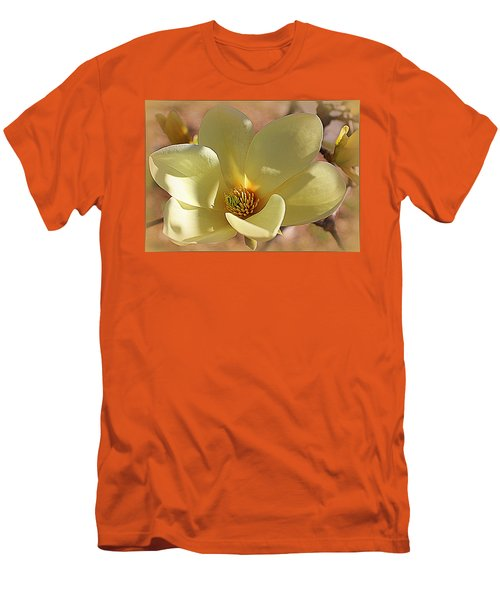 Yellow Magnolia In Full Bloom Men's T-Shirt (Athletic Fit)