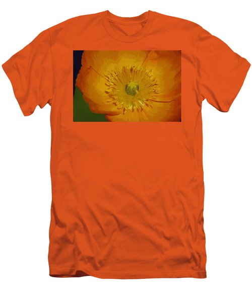 Men's T-Shirt (Slim Fit) featuring the photograph Yellow Poppy by Donna Bentley