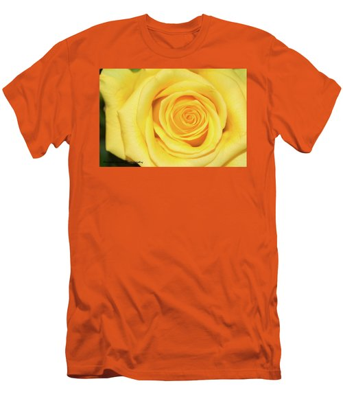 Yellow Rose Men's T-Shirt (Slim Fit) by Nance Larson