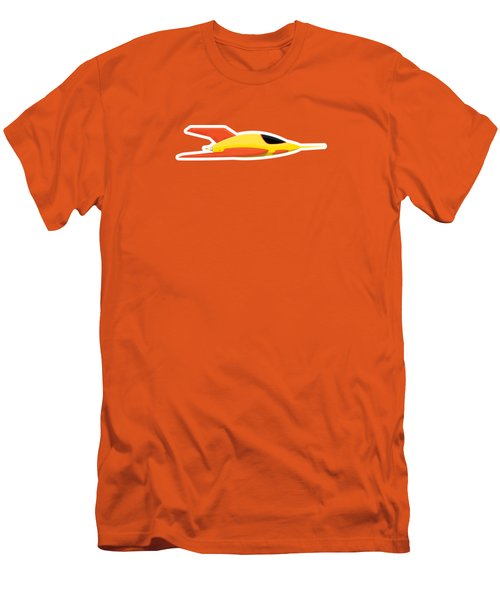 Yellow Space Rocket Men's T-Shirt (Athletic Fit)