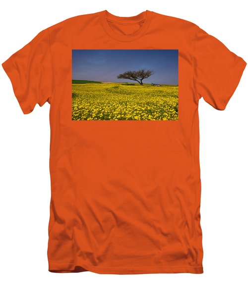Yellow Spring Men's T-Shirt (Slim Fit) by Uri Baruch