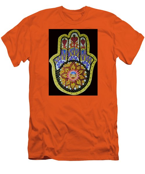 Yellow Sun Men's T-Shirt (Slim Fit) by Patricia Arroyo