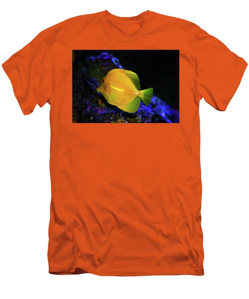Men's T-Shirt (Slim Fit) featuring the photograph Yellow Tang by Anthony Jones