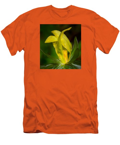 Men's T-Shirt (Slim Fit) featuring the photograph Yellow Trillium by Tyson and Kathy Smith
