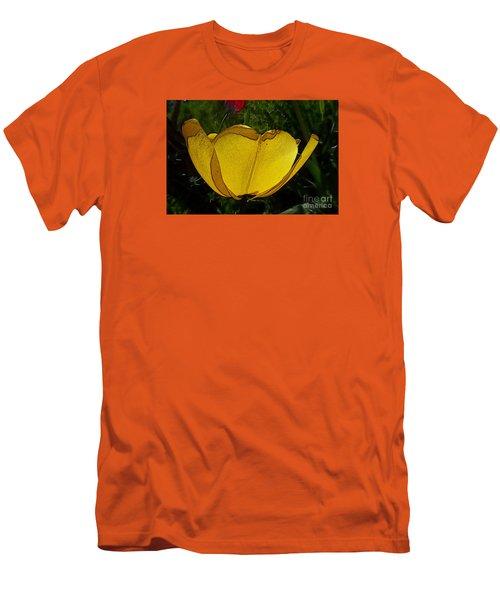 Yellow Tulip 2 Men's T-Shirt (Slim Fit) by Jean Bernard Roussilhe