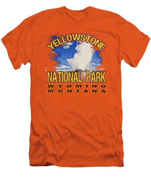 Yellowstone National Park Men's T-Shirt (Slim Fit) by David G Paul