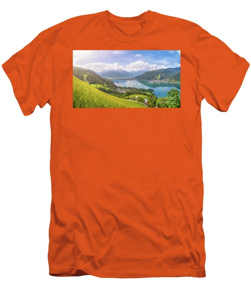 Zell Am See - Alpine Beauty Men's T-Shirt (Slim Fit) by JR Photography