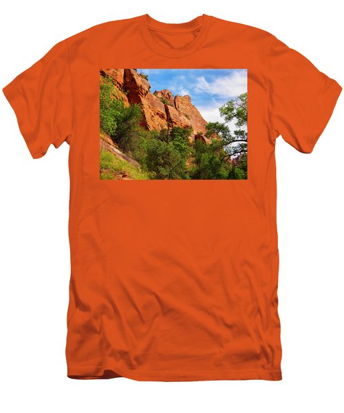 Zion National Park 1 Men's T-Shirt (Athletic Fit)