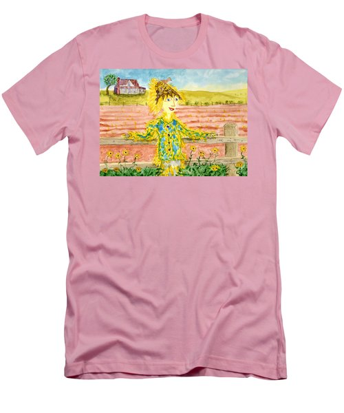 Cheerful Scarecrow Men's T-Shirt (Athletic Fit)