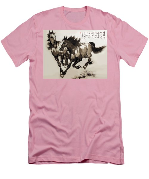 Men's T-Shirt (Slim Fit) featuring the photograph  Companionship by Yufeng Wang