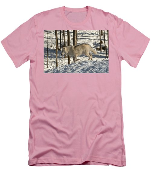 Men's T-Shirt (Slim Fit) featuring the photograph Arctic Wolf by Wolves Only