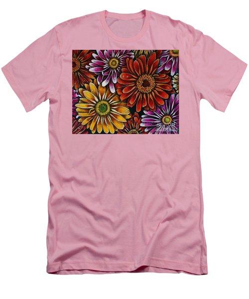 Happy Men's T-Shirt (Slim Fit) by Linda Simon