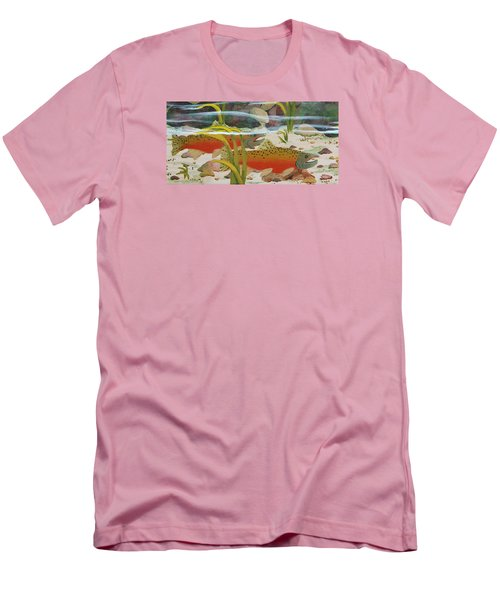 Salmon Men's T-Shirt (Slim Fit) by Katherine Young-Beck