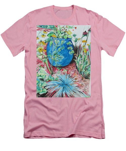 The Blue Flower Pot Men's T-Shirt (Slim Fit)