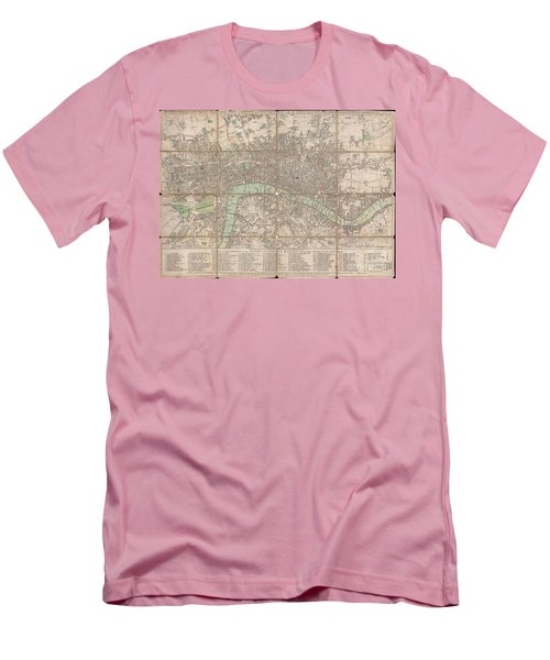 1795 Bowles Pocket Map Of London Men's T-Shirt (Athletic Fit)