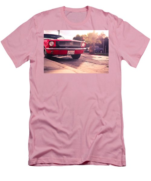 Men's T-Shirt (Slim Fit) featuring the photograph 1966 Ford Mustang Convertible by Gianfranco Weiss