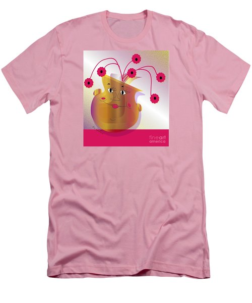 Men's T-Shirt (Slim Fit) featuring the digital art Happy Dance by Iris Gelbart