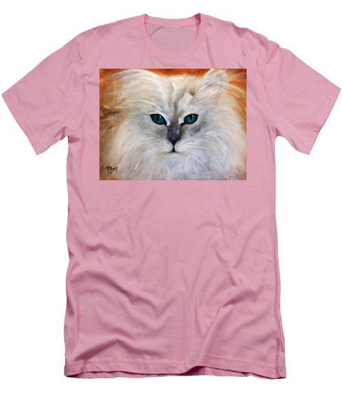 Men's T-Shirt (Slim Fit) featuring the painting Hemingway by Barbie Batson