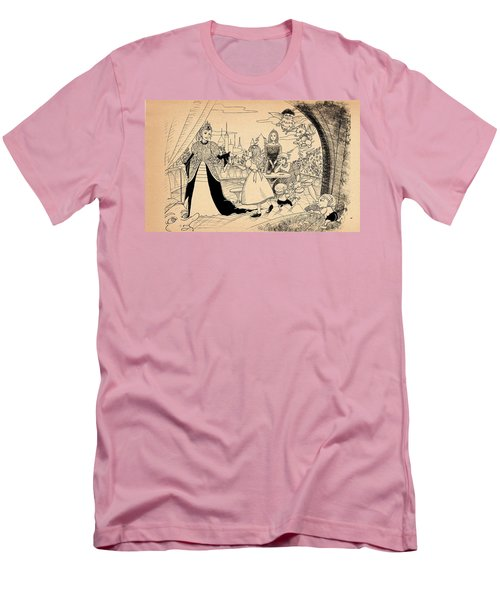 Men's T-Shirt (Slim Fit) featuring the drawing The Palace Balcony by Reynold Jay