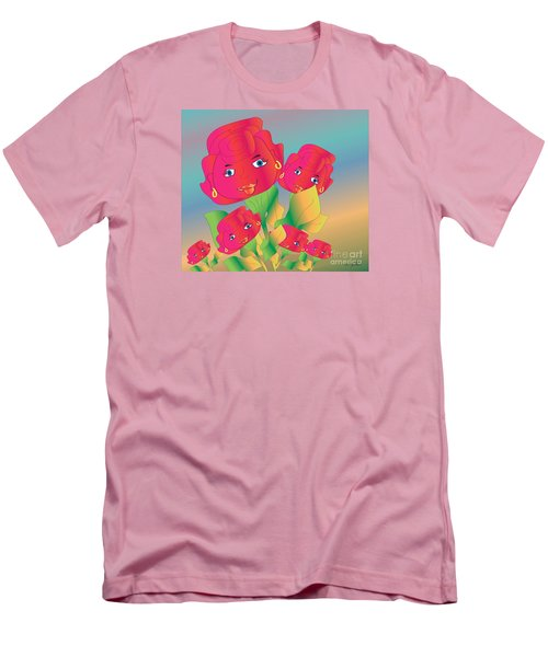Men's T-Shirt (Slim Fit) featuring the digital art Family by Iris Gelbart