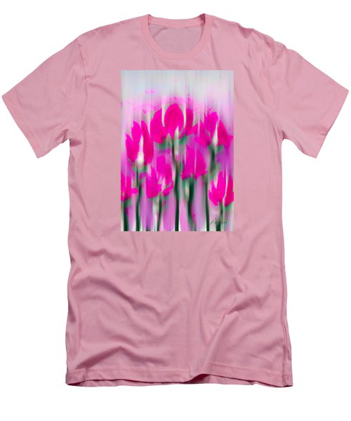 Men's T-Shirt (Slim Fit) featuring the digital art 6 1/2 Flowers by Frank Bright