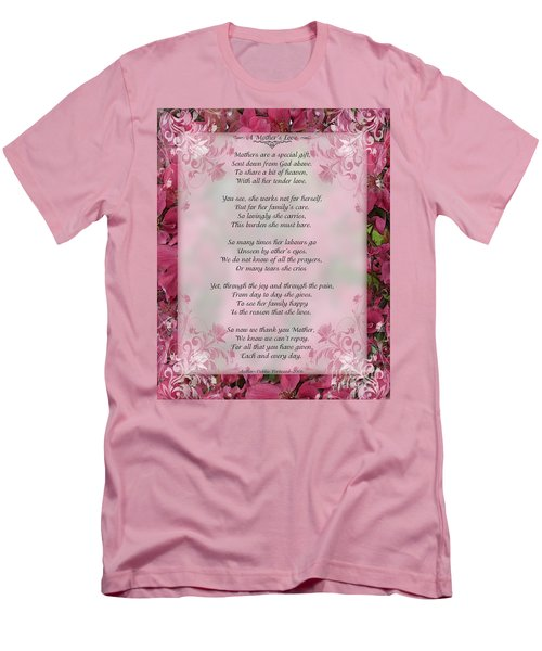 A Mother's Love  8x10 Format Men's T-Shirt (Slim Fit) by Debbie Portwood