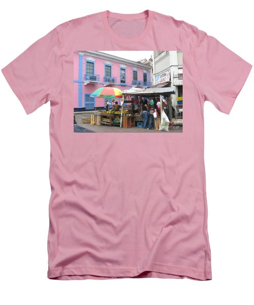 A Pop Of Tropical Color Men's T-Shirt (Athletic Fit)