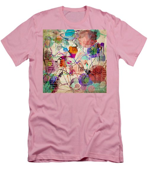 Men's T-Shirt (Slim Fit) featuring the digital art Abstract Expressionism by Phil Perkins