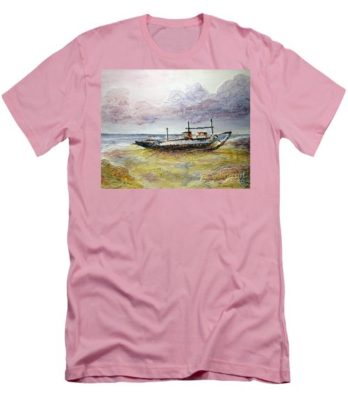 Men's T-Shirt (Slim Fit) featuring the painting After The Storm by Joey Agbayani