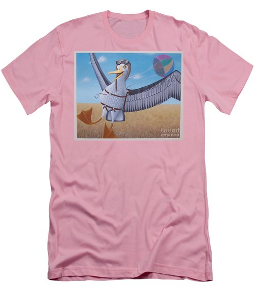 Albatross Landing Men's T-Shirt (Slim Fit) by Susan Williams
