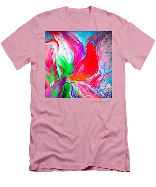 Funky Amaryllis Lily Men's T-Shirt (Athletic Fit)