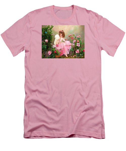 Angel And Baby  Men's T-Shirt (Slim Fit) by Catherine Lott