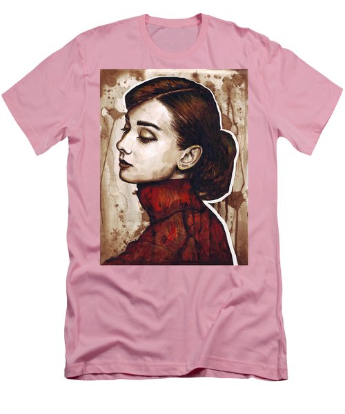 Audrey Hepburn Men's T-Shirt (Slim Fit) by Olga Shvartsur