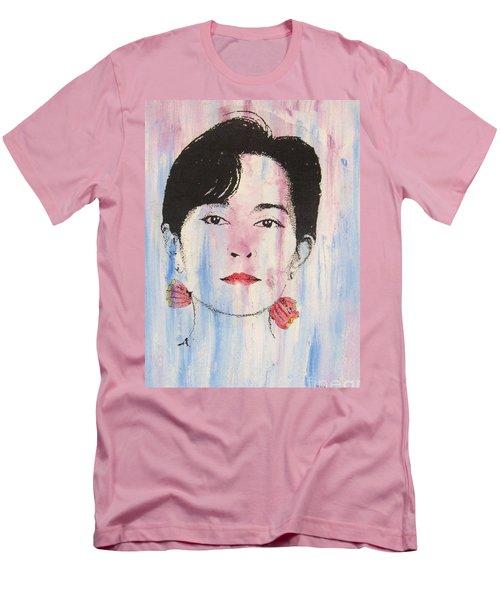 Aung San Suu Kyi Men's T-Shirt (Slim Fit) by Roberto Prusso