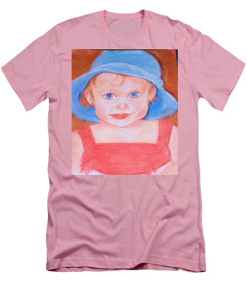 Baby In Blue Hat Men's T-Shirt (Slim Fit) by Christy Saunders Church