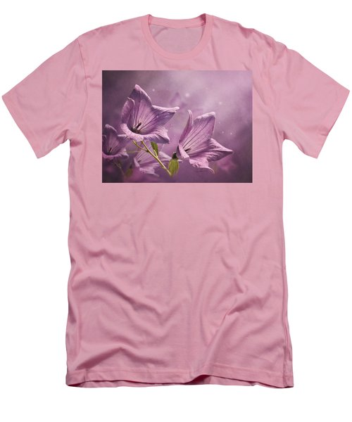 Men's T-Shirt (Slim Fit) featuring the photograph Balloon Flowers by Ann Lauwers