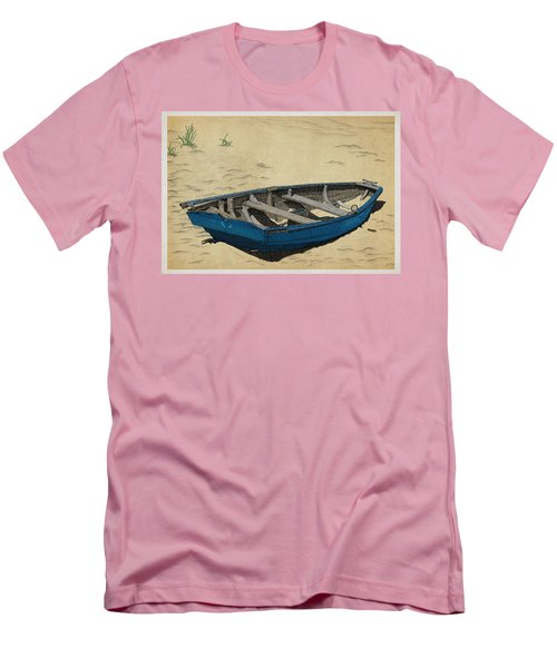 Men's T-Shirt (Slim Fit) featuring the drawing Beached by Meg Shearer