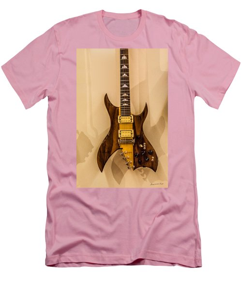 Bich Electric Guitar Colored Men's T-Shirt (Athletic Fit)