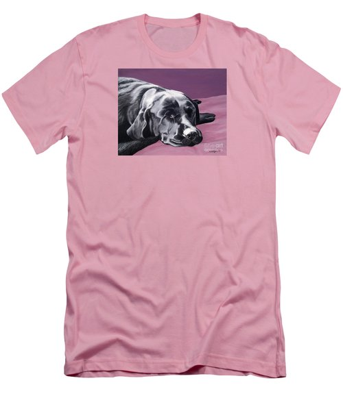 Black Labrador Beauty Sleep Men's T-Shirt (Athletic Fit)