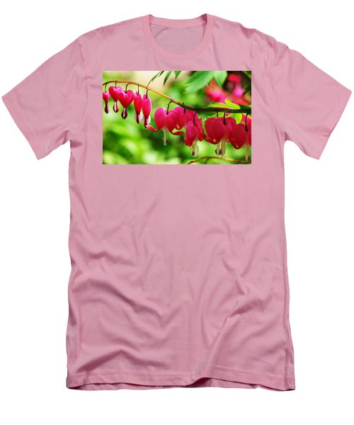 Romantic Bleeding Hearts Men's T-Shirt (Athletic Fit)