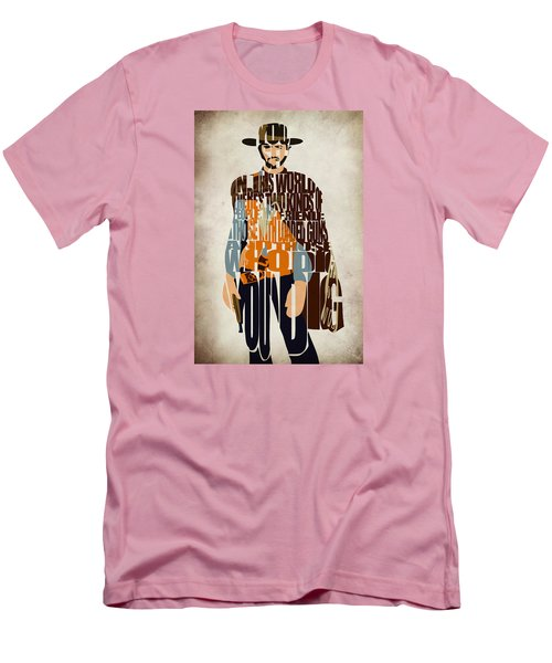 Blondie Poster From The Good The Bad And The Ugly Men's T-Shirt (Slim Fit) by Ayse Deniz