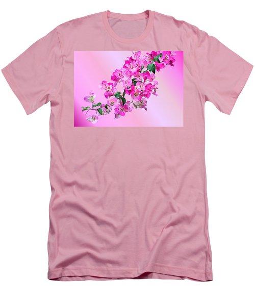 Men's T-Shirt (Slim Fit) featuring the photograph Bougainvillea by Kristin Elmquist