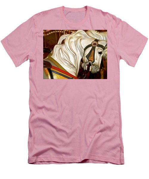Men's T-Shirt (Slim Fit) featuring the photograph Brooklyn Hobby Horse by Joan Reese