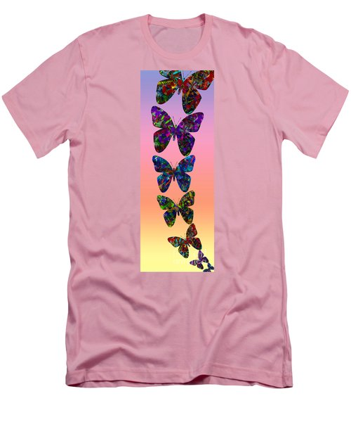 Men's T-Shirt (Slim Fit) featuring the photograph Butterfly Collage IIII by Robert Meanor
