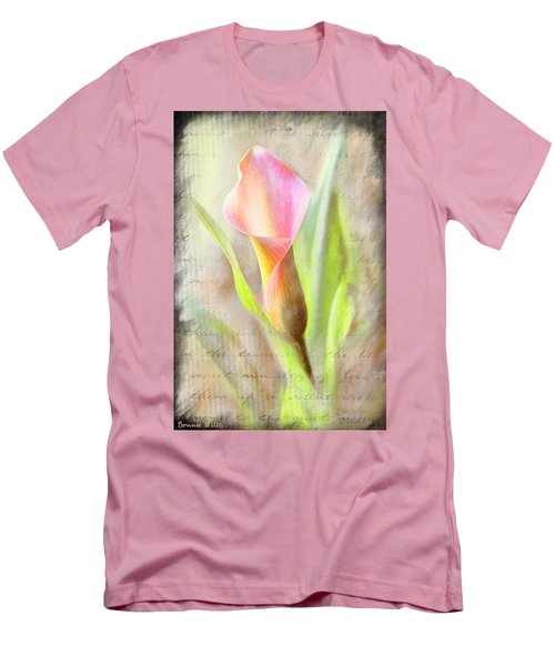 Calla Lily In Pink Men's T-Shirt (Athletic Fit)