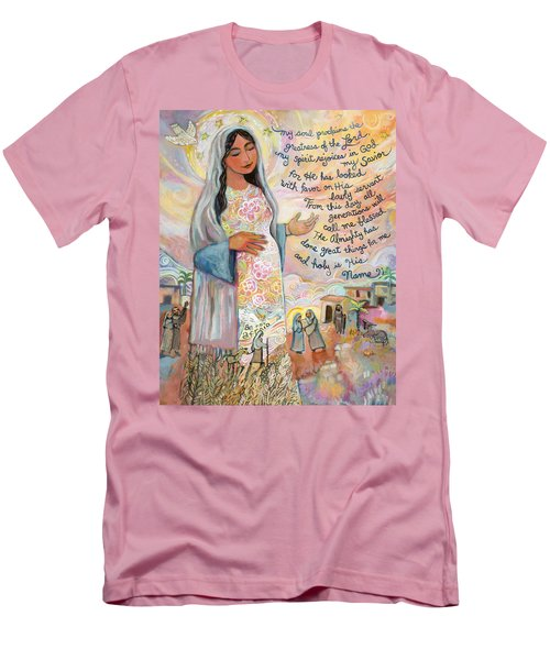 Canticle Of Mary Men's T-Shirt (Athletic Fit)