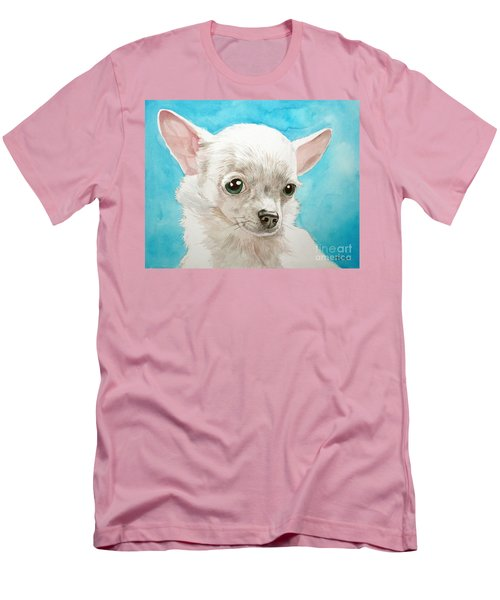 Chihuahua Dog White Men's T-Shirt (Athletic Fit)