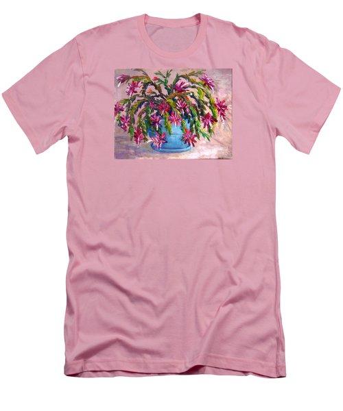 Christmas Cactus Men's T-Shirt (Athletic Fit)