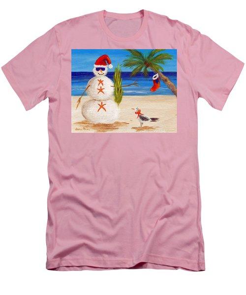 Christmas Sandman Men's T-Shirt (Slim Fit) by Jamie Frier